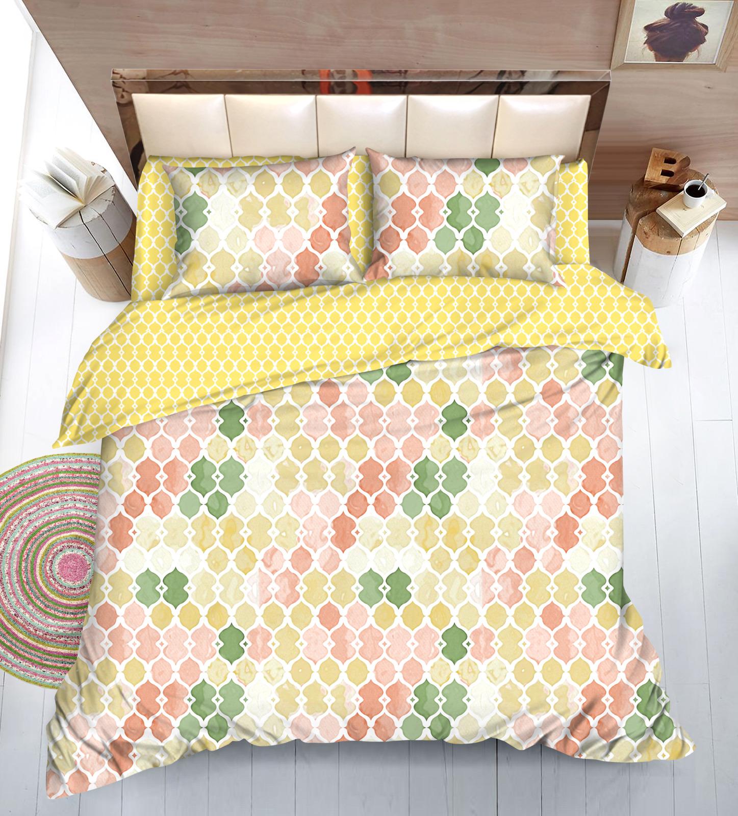 Комплект постельного белья Amore Mio Gold Brandi, 7858, разноцветный, евро, наволочки 70x50, 70x70