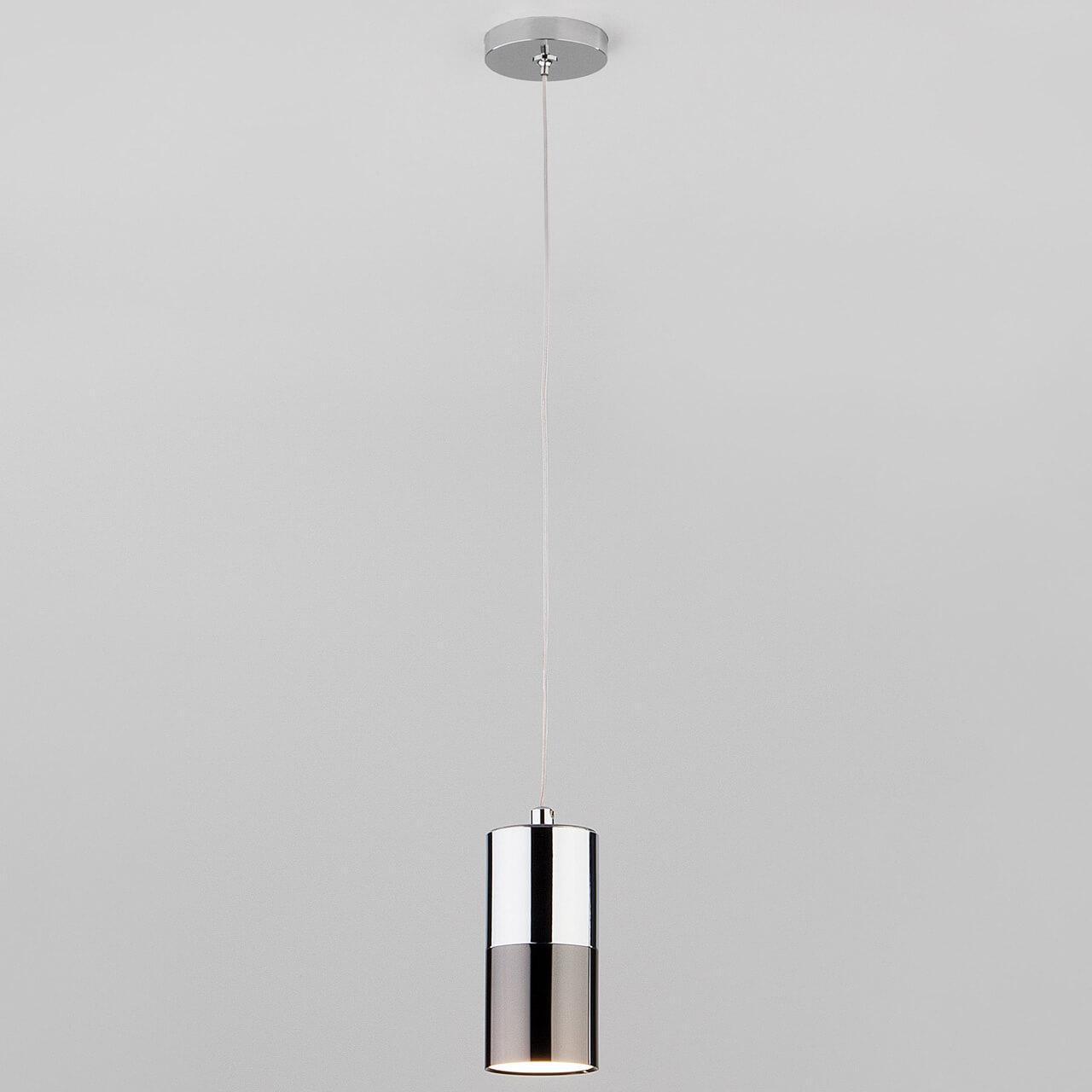 Подвесной светильник EUROSVET 50146/1 хром/черный жемчуг, GU10, 5 Вт
