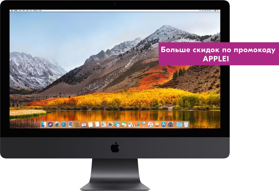 Моноблок Apple iMac Pro 27 Retina 5K, MQ2Y2RU/A, серый космос адаптер apple vesa mount kit for imac pro серый космос