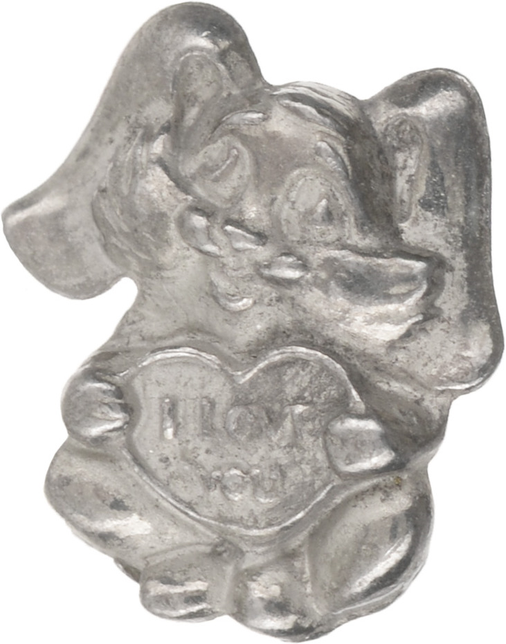 Денежный сувенир Miland Кошельковый зайка, Т-6950, серебристый