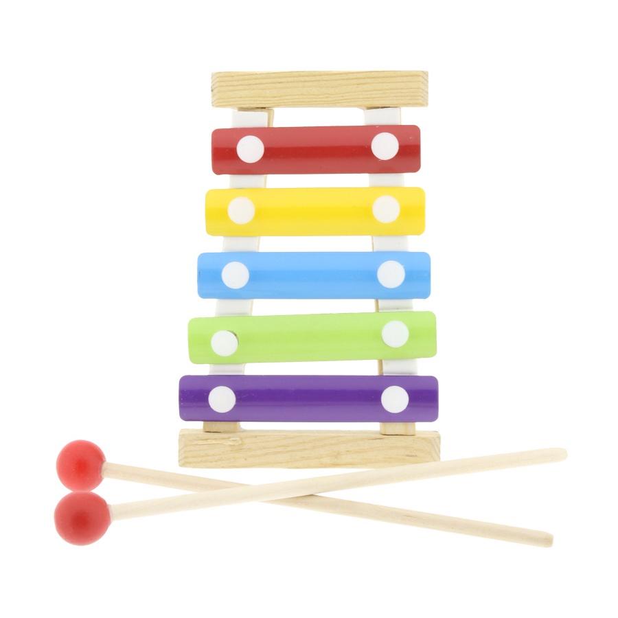 Музыкальная игрушка IQ Format ксилофон детский, деревянный, 5 тонов цена