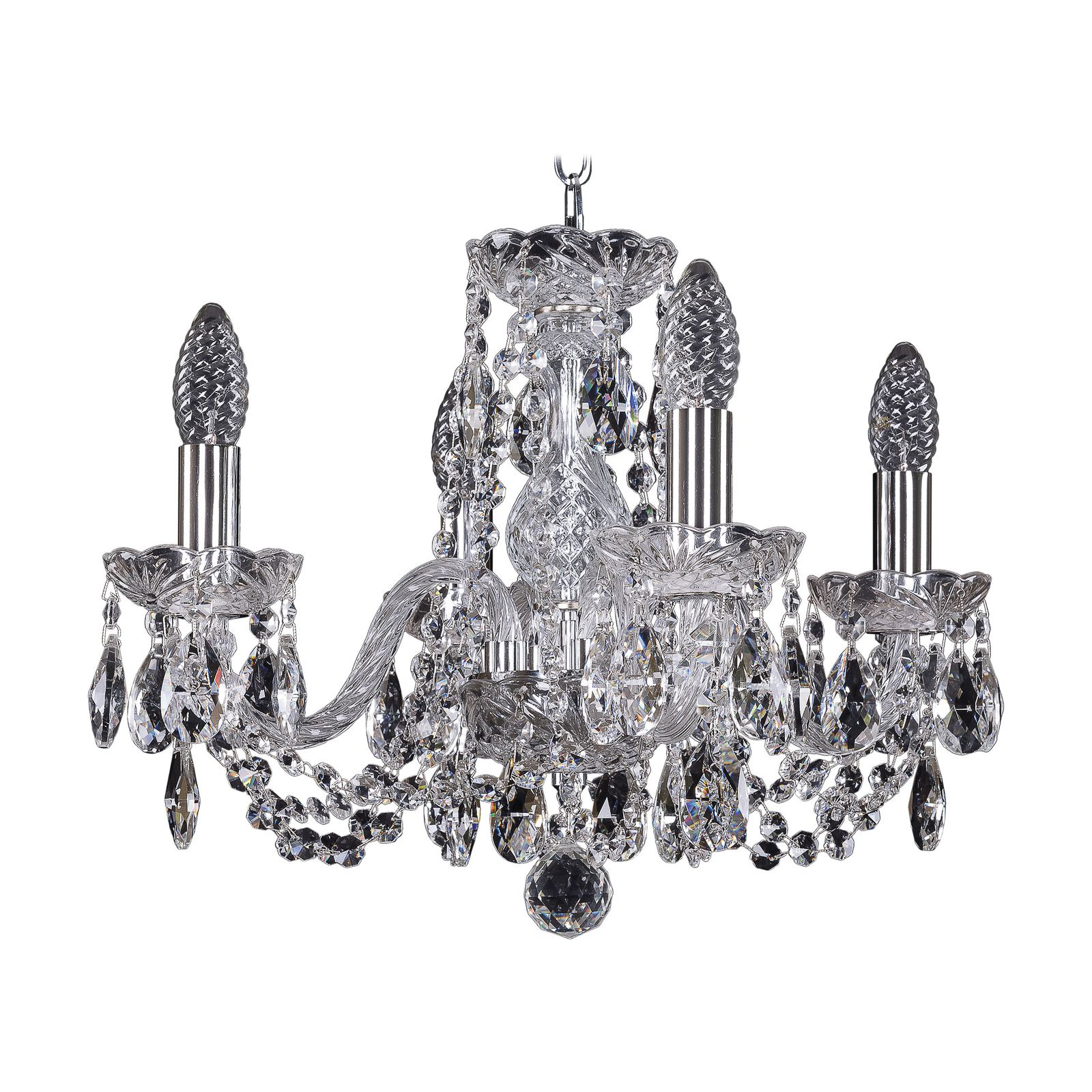 все цены на Подвесной светильник Bohemia Ivele Crystal 1402/4/141 Ni, E14, 40 Вт онлайн