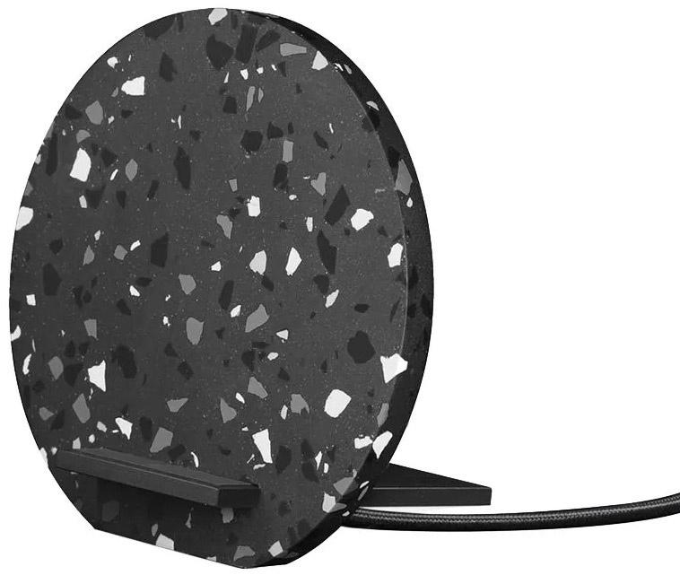 Беспроводное зарядное устройство Native Union DOCK-WL-TER-GRY DOCK WIRELESS TERRAZZO Qi с подставкой, серый беспроводное зарядное устройство zup wireless charge dock 2 в 1 черный