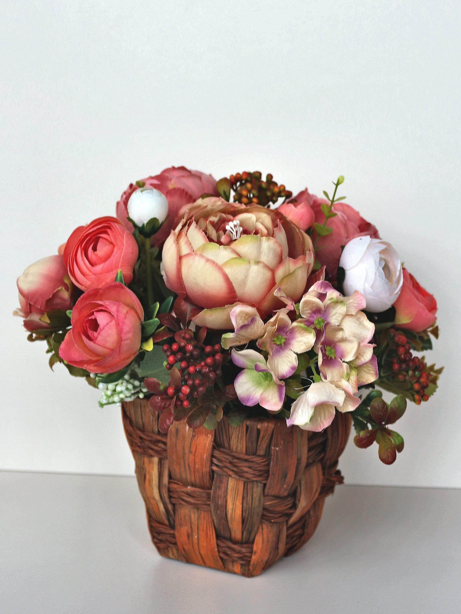 Искусственные цветы 403383, светло-розовый кашпо wonder wood серия бабочки светло розовый