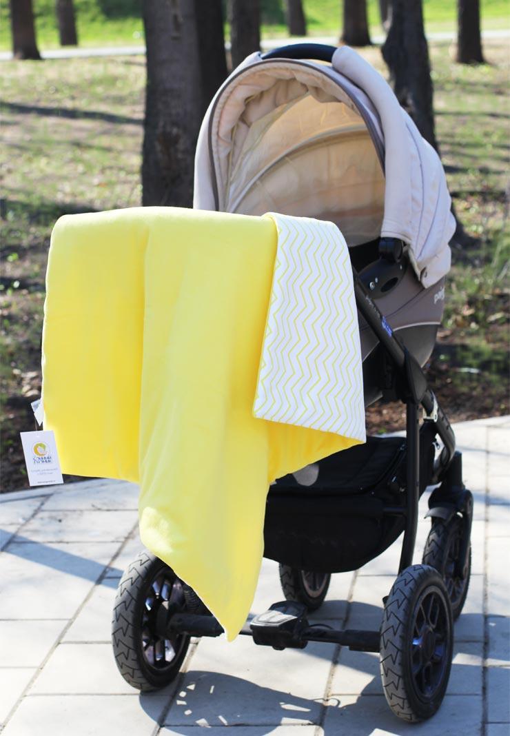 Плед для новорожденного Сонный гномик Дайкири, желтый все цены