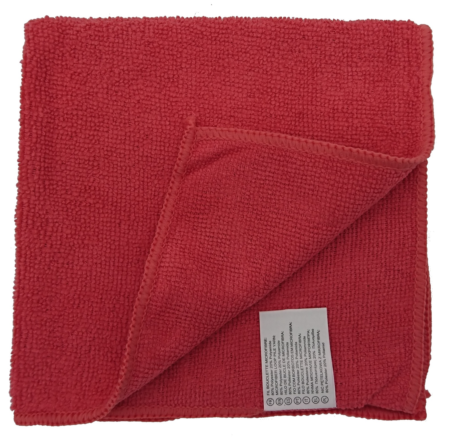 все цены на Салфетка универсальная микрофибра 35х35 см красная, красный онлайн