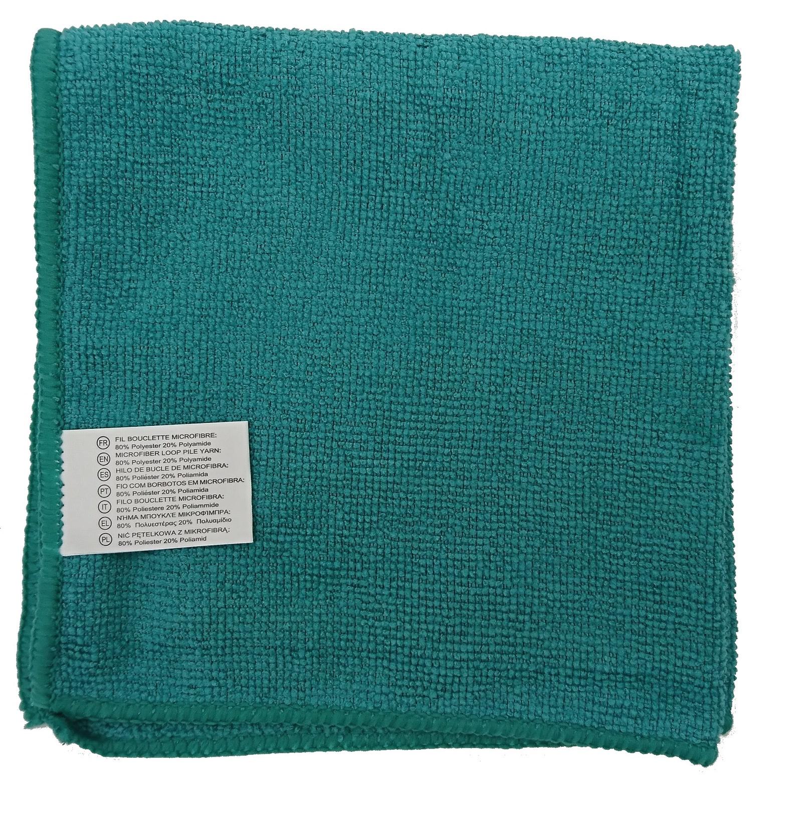 все цены на Салфетка универсальная микрофибра 35х35 см зеленая, зеленый онлайн