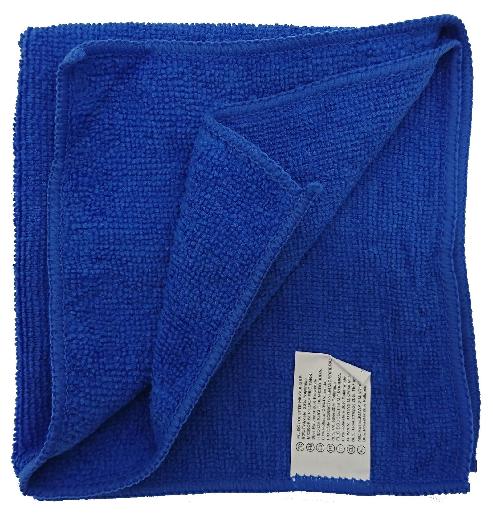 все цены на Салфетка универсальная микрофибра 35х35 см синяя, синий онлайн