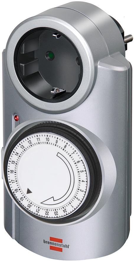 Автоматический выключатель Brennenstuhl 1506530 таймер механический MT 20, серый