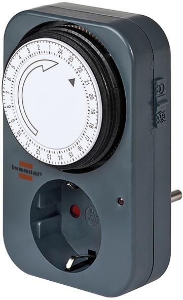Автоматический выключатель Brennenstuhl 1506450 таймер механический MZ 20-1, черный, темно-серый
