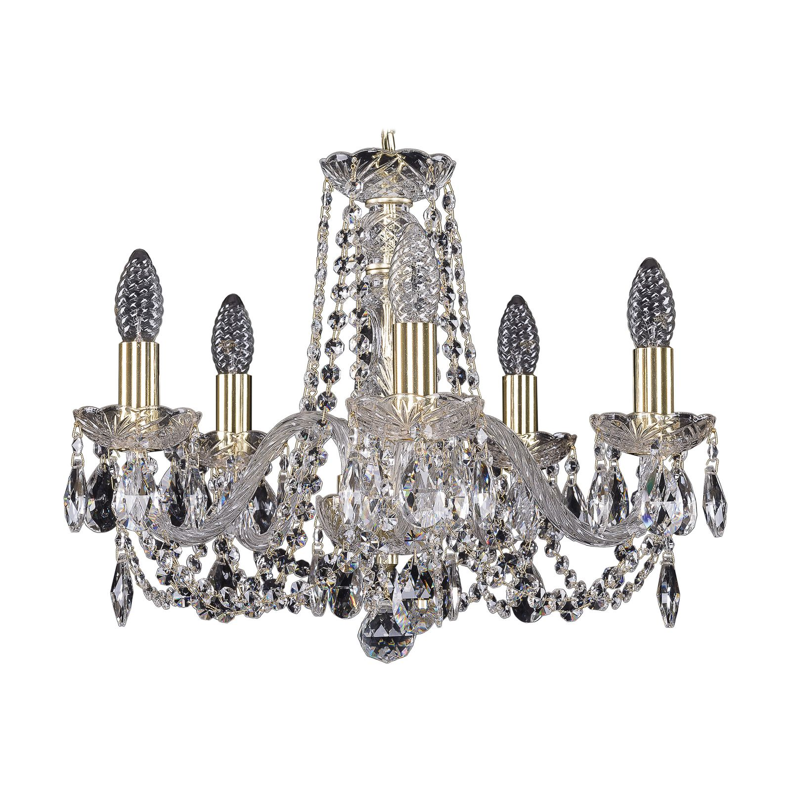 Потолочный светильник Bohemia Ivele Crystal 1402/5/160 G, E14, 40 Вт bohemia ivele crystal 1932 75z g