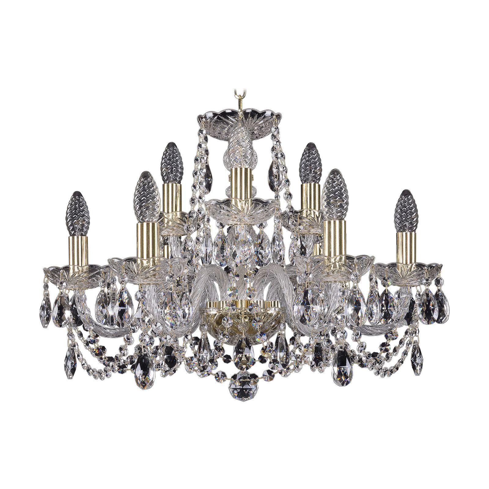 Потолочный светильник Bohemia Ivele Crystal 1402/6+3/195 G, E14, 40 Вт bohemia ivele crystal 1932 75z g