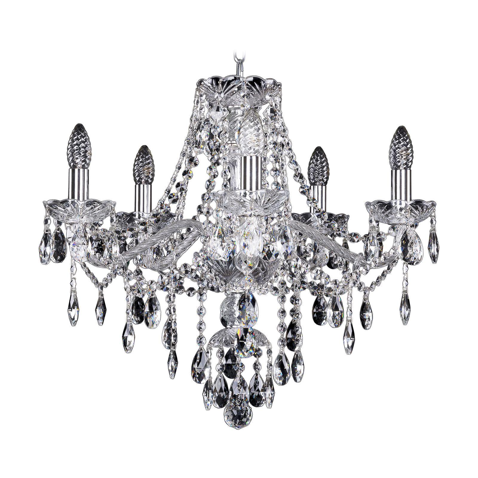 Потолочный светильник Bohemia Ivele Crystal 1415/5/200 Ni, E14, 40 Вт недорого