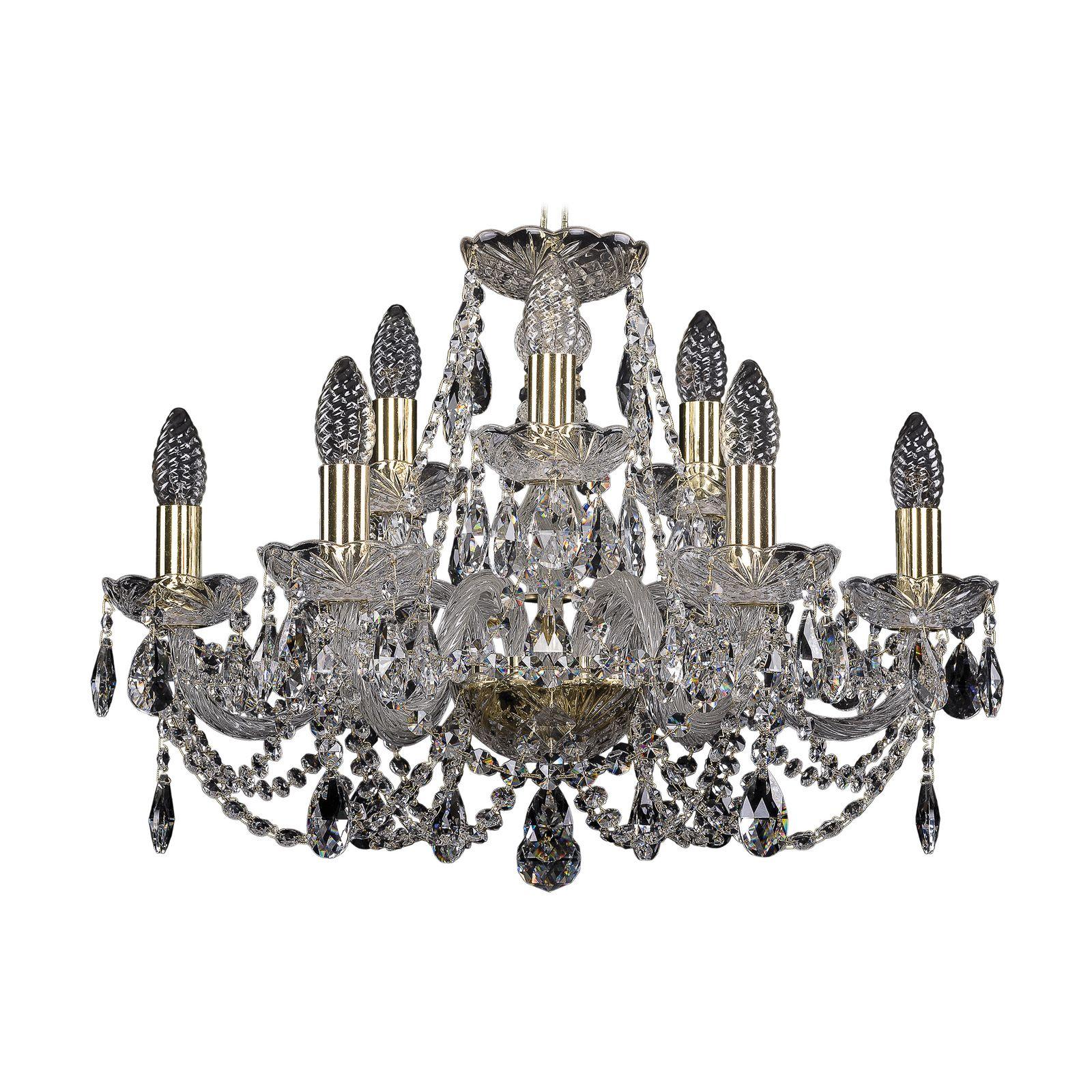 Потолочный светильник Bohemia Ivele Crystal 1406/6+3/195 G, E14, 40 Вт bohemia ivele crystal 1932 75z g