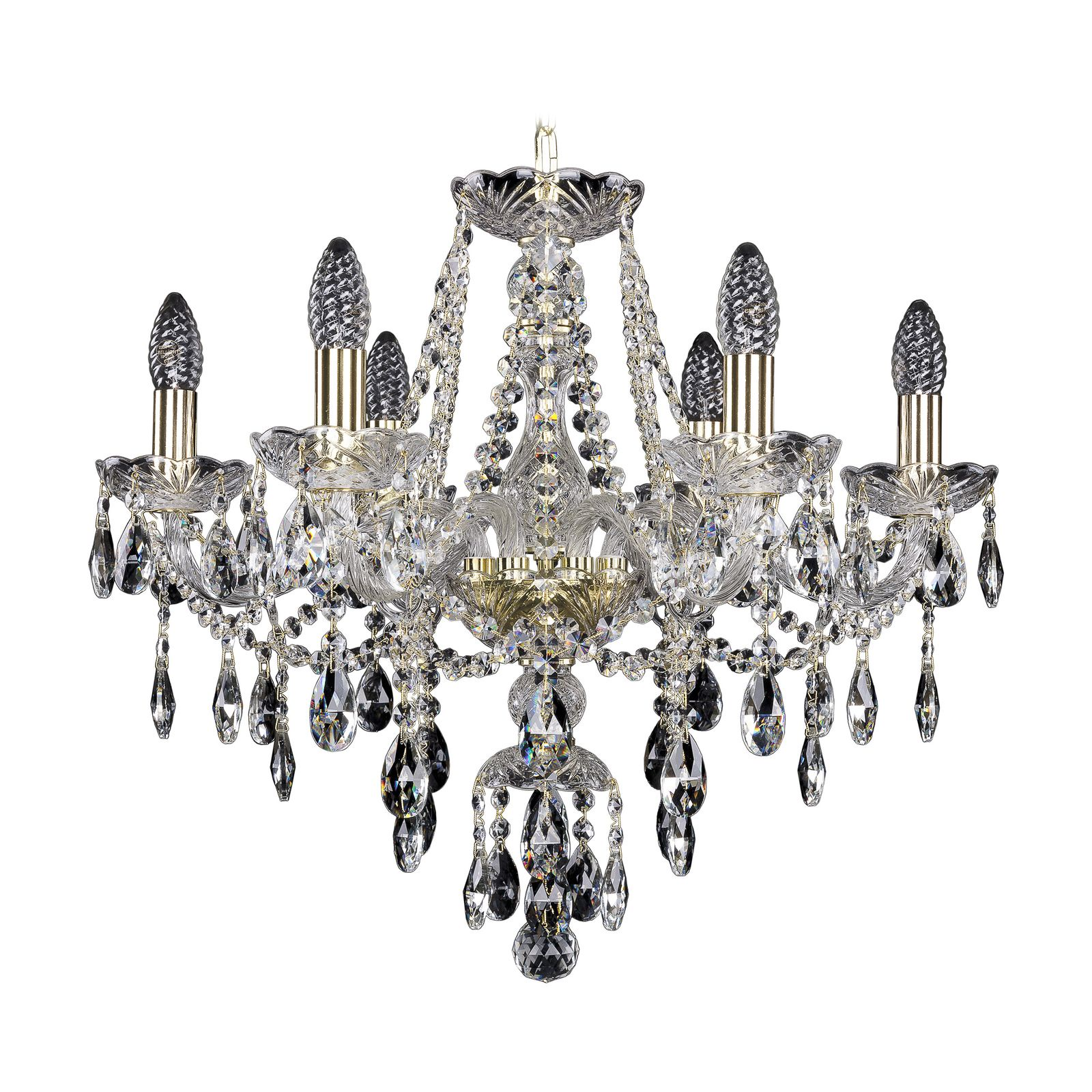 Потолочный светильник Bohemia Ivele Crystal 1415/8/141 G, E14, 40 Вт bohemia ivele crystal 1932 75z g