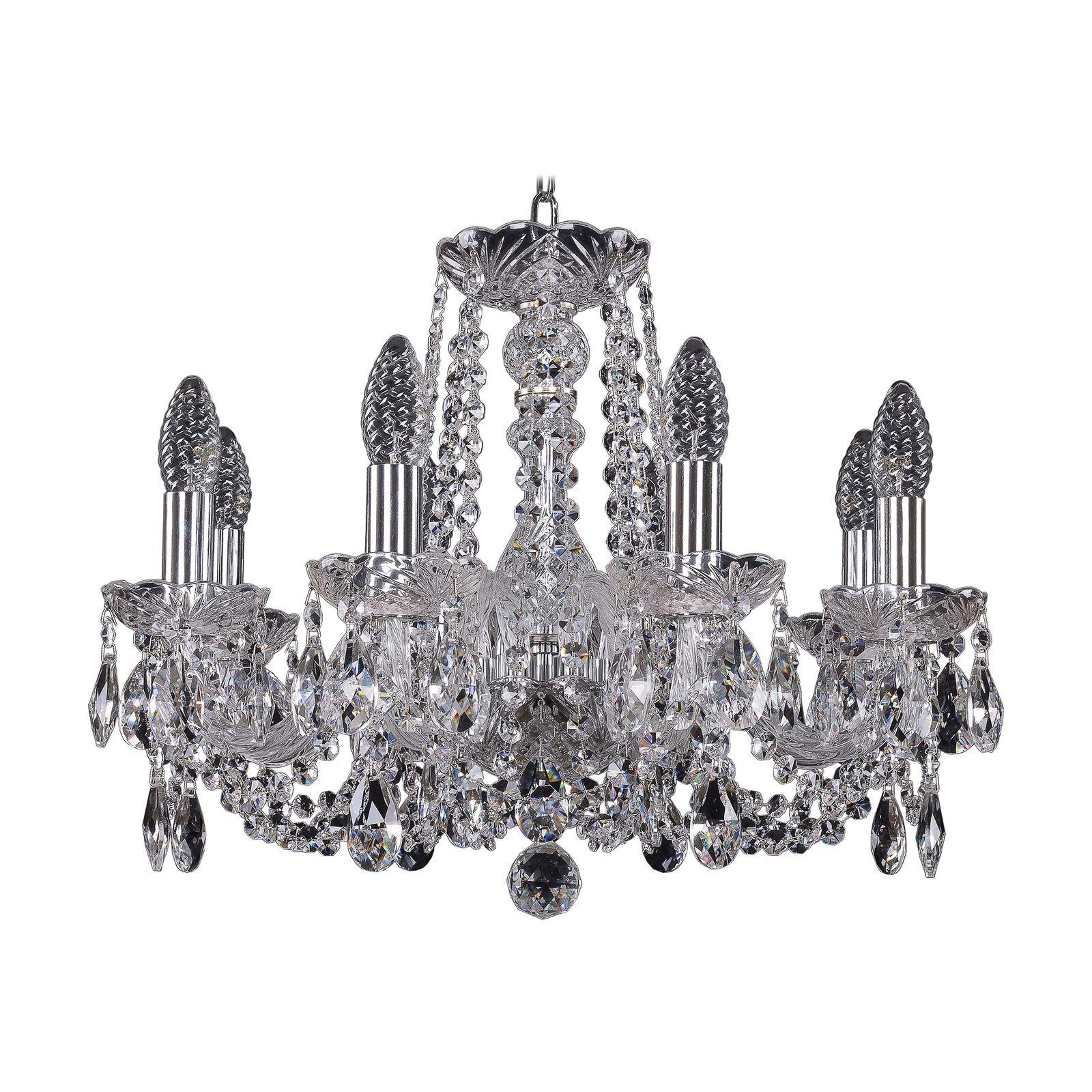 Потолочный светильник Bohemia Ivele Crystal 1402/8/160 Ni, E14, 40 Вт bohemia ivele crystal 1932 75z g