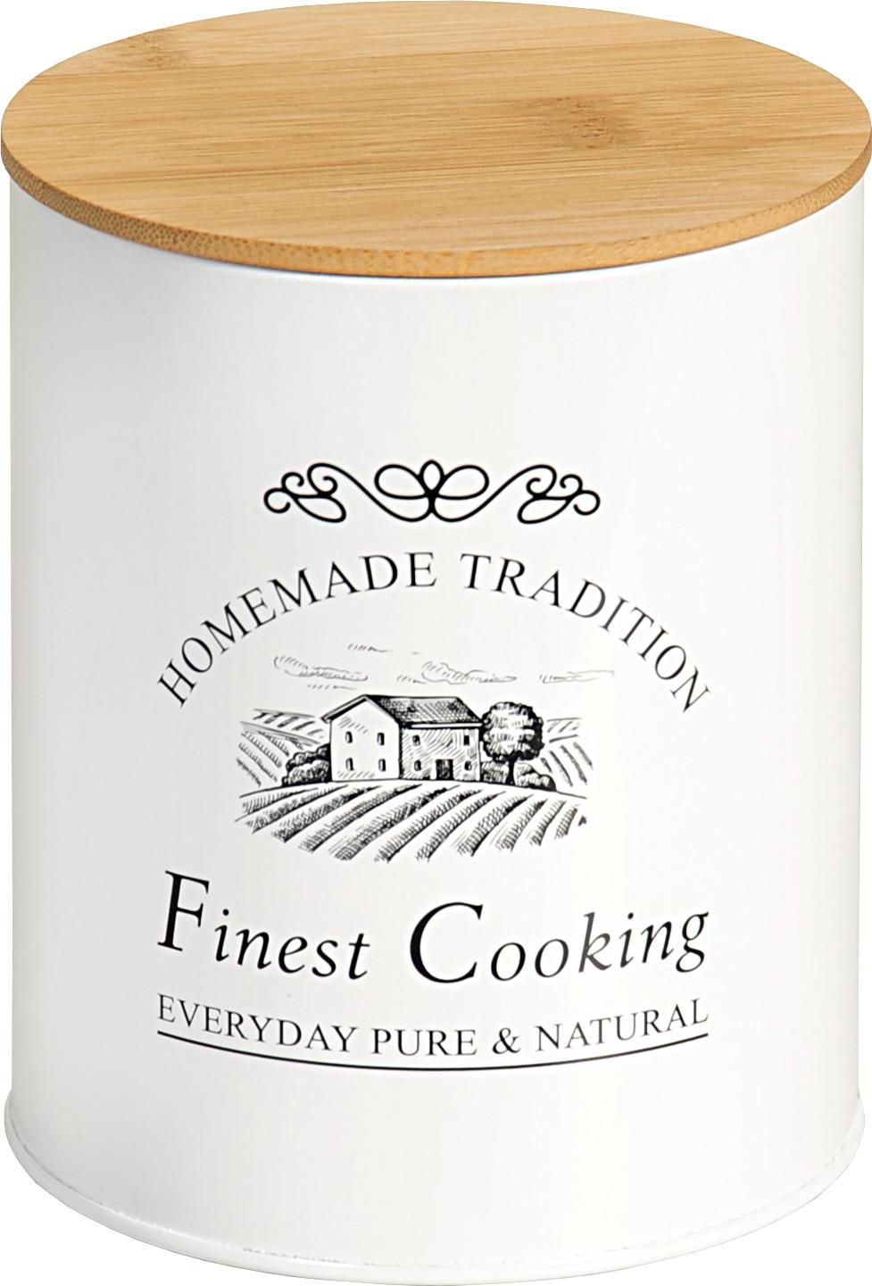 Банка для сыпучих продуктов Kesper Finest Cooking, 3824-9, белый, 11 х 11 х 13,5 см