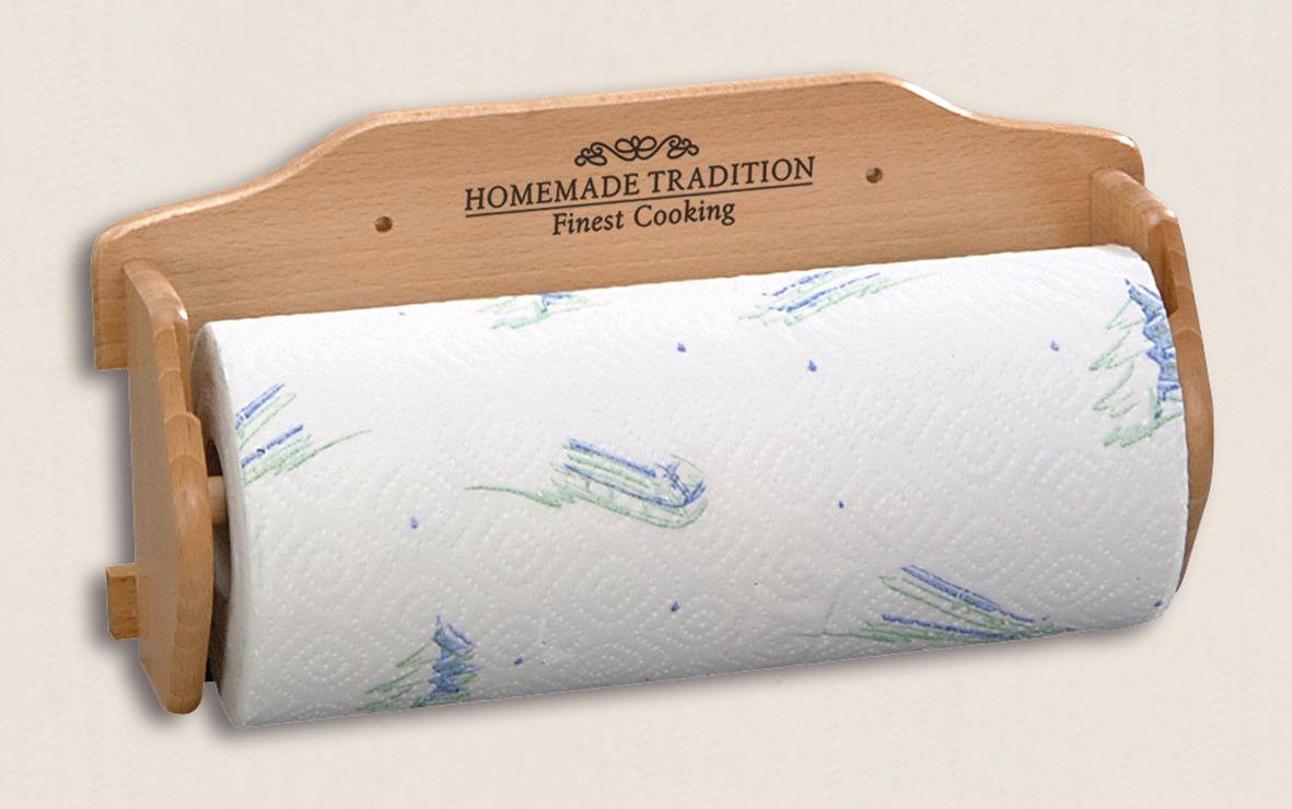 Держатель для бумажных полотенец Kesper, 6700-5, светло-коричневый, 30 х 11 х 15 см