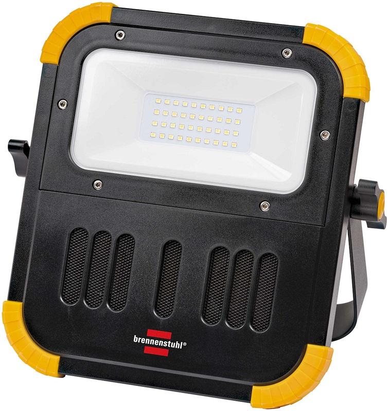 Прожектор Brennenstuhl 1171620 переносной LED на аккумуляторах , 20 Ватт, 2100 лм, черно-серый
