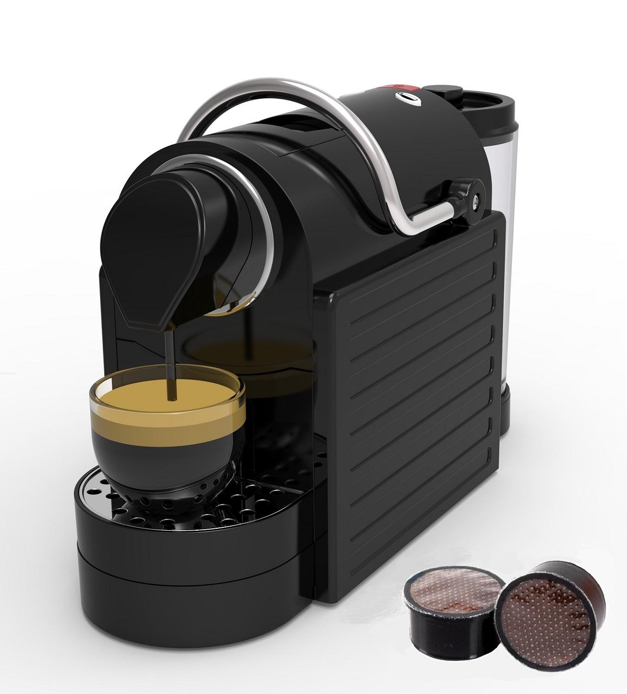 Капсульная кофемашина Брилль cafe JH-01H, капсулы LEP (Lavazza espresso point), черный