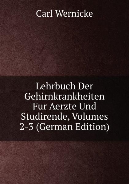 Lehrbuch Der Gehirnkrankheiten Fur Aerzte Und Studirende, Volumes 2-3 (German Edition)