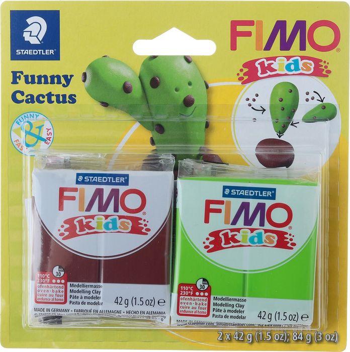 Глина полимерная Fimo Kids Kit Веселый кактус, 8035 13, 2 цвета
