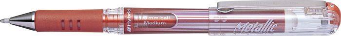 Ручка Pentel Hybrid Gel Grip Dx, гелевая, PK230-ME, бронза пикассо pimio ps 609 оранжевые белый клип перо финансы чернила