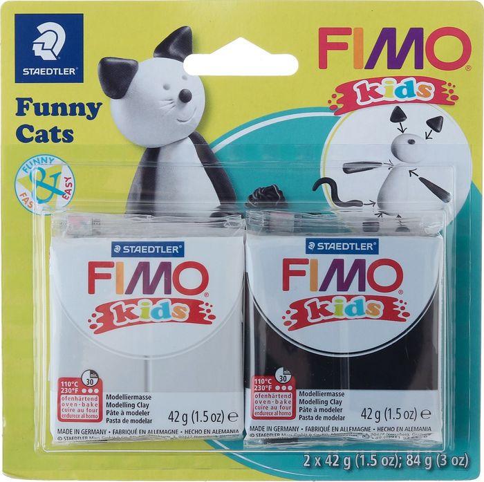 Глина полимерная Fimo Kids Kit Веселые коты, 8035 10, 2 цвета