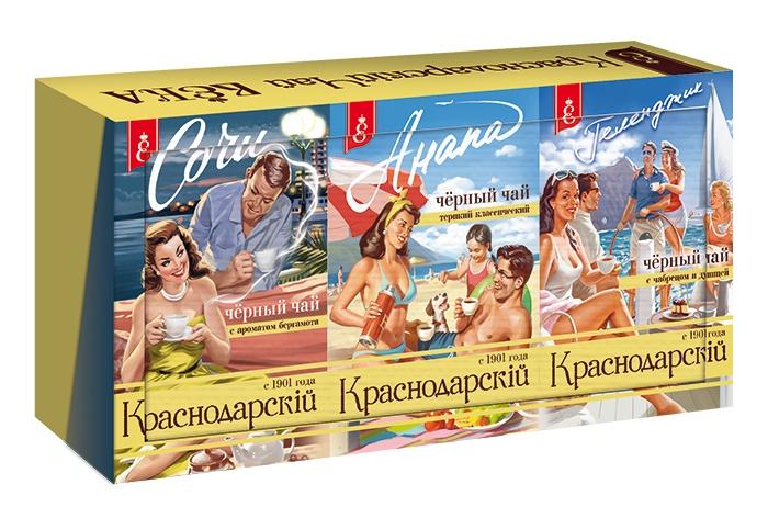 Краснодарская чайная коллекция Курорты Кубани (3 пачки трех видов по 100 гр.) авиалинии кубани сайт