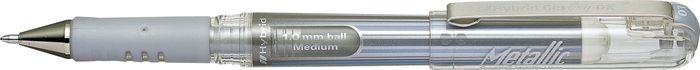 Ручка Pentel Hybrid Gel Grip Dx, гелевая, PK230-Z, серебристый пикассо pimio ps 609 оранжевые белый клип перо финансы чернила