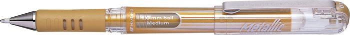 Ручка Pentel Hybrid Gel Grip Dx, гелевая, PK230-X, золотой пикассо pimio ps 609 оранжевые белый клип перо финансы чернила