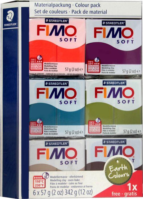 Глина полимерная Fimo Soft Цвета Земли 2018, 8023 27, 6 цветов bxg pdc 8020