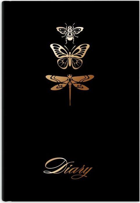 Ежедневник Феникс+ Диари Фауна, в линейку, 47822, черный, A5, 80 листов феникс ежедневник fenix plus софт тач недатированный розовый голубой