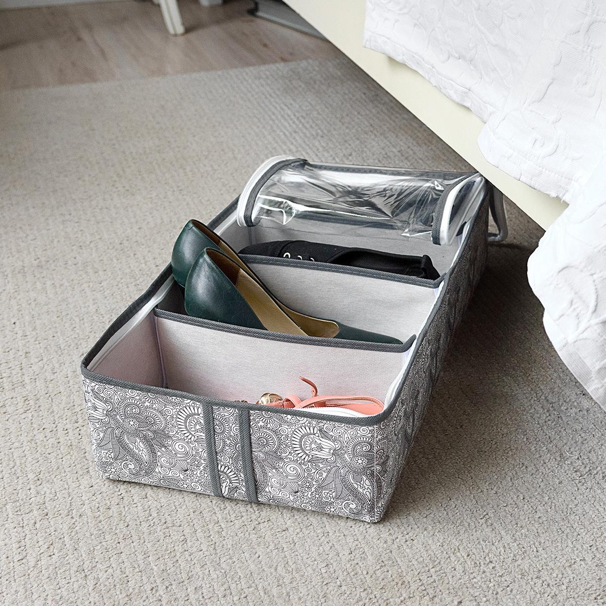 Органайзер для вещей Homsu HOM-1093, серый senma senma холст обувь мода тренд педаль ленивый обувь студент плоский корейской пары пару обуви 2122195 светло серый 40 ярдов