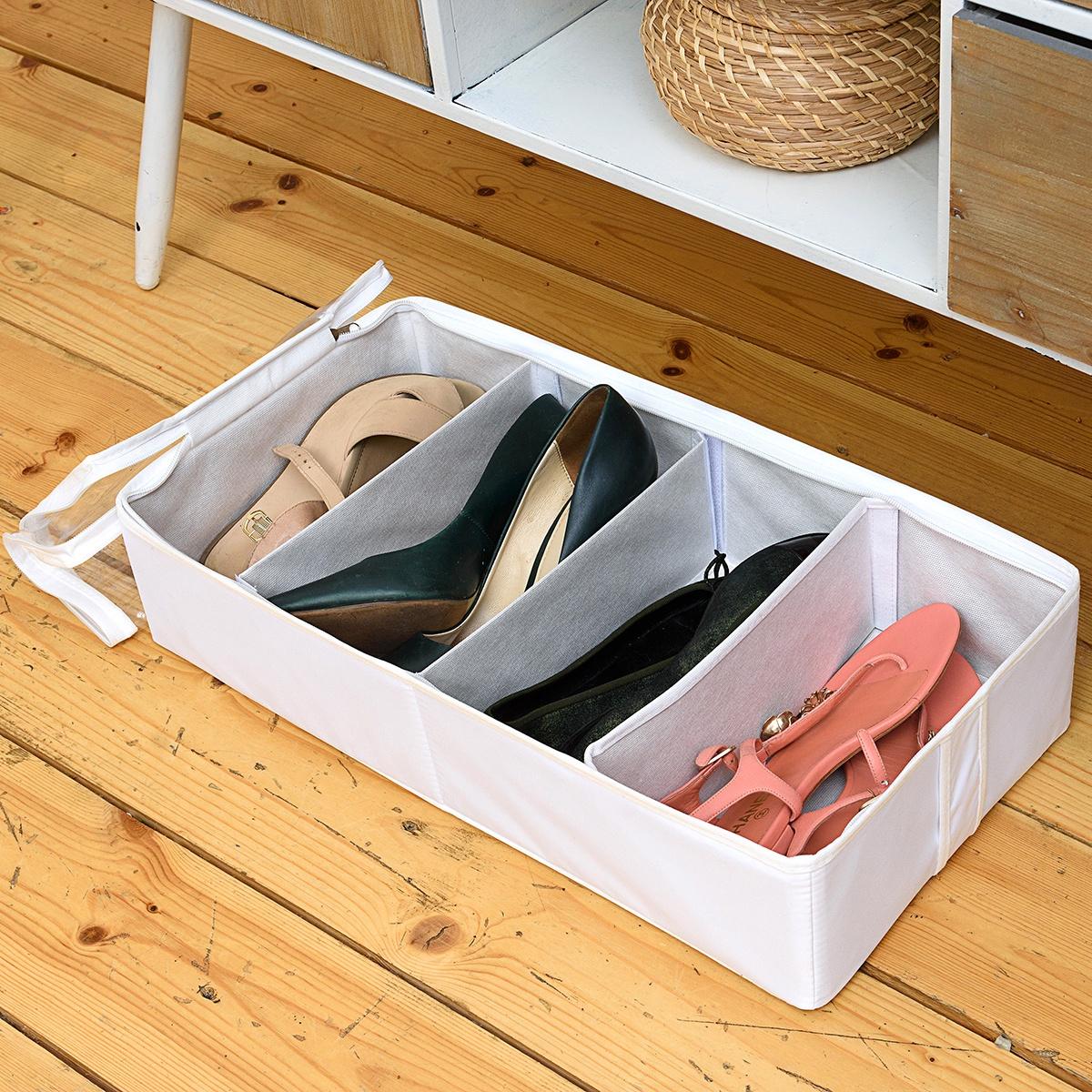 Органайзер для вещей Homsu HOM-1098, белый senma senma холст обувь мода тренд педаль ленивый обувь студент плоский корейской пары пару обуви 2122195 светло серый 40 ярдов