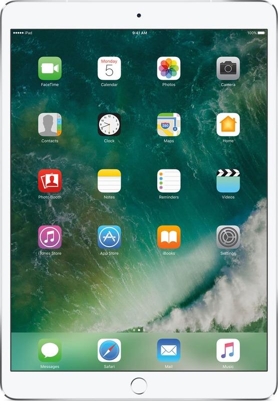 Планшет Apple iPad Pro Wi-Fi + Cellular (2017) 256 ГБ, серебристый стилус iphone ipad
