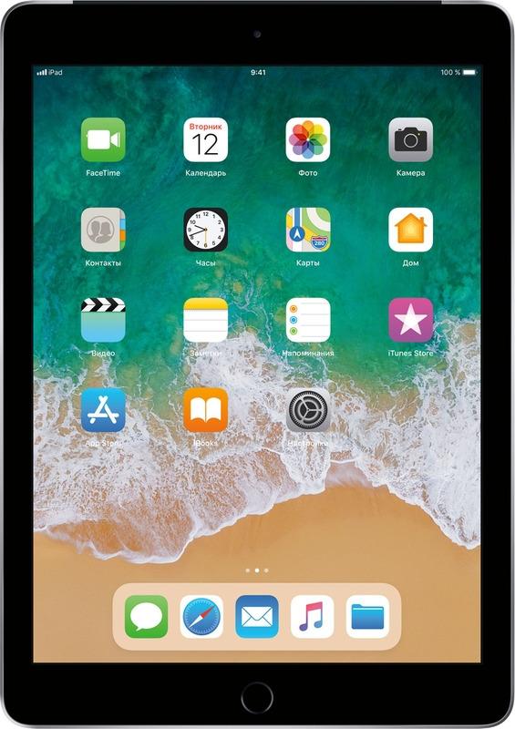 9.7 Планшет Apple iPad Wi-Fi + Cellular (2017), 32 GB, серый космос