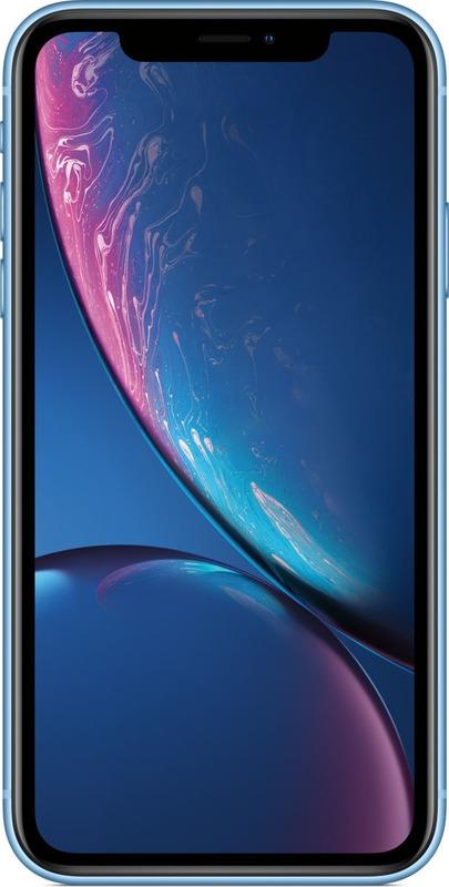 Смартфон Apple iPhone XR 3/64GB, синий смартфон apple iphone xr 64gb yellow mry72ru a apple a12 bionic 3gb 64gb 6 1 1792x828 retina ips 12mp 7mp 3g 4g lte ios