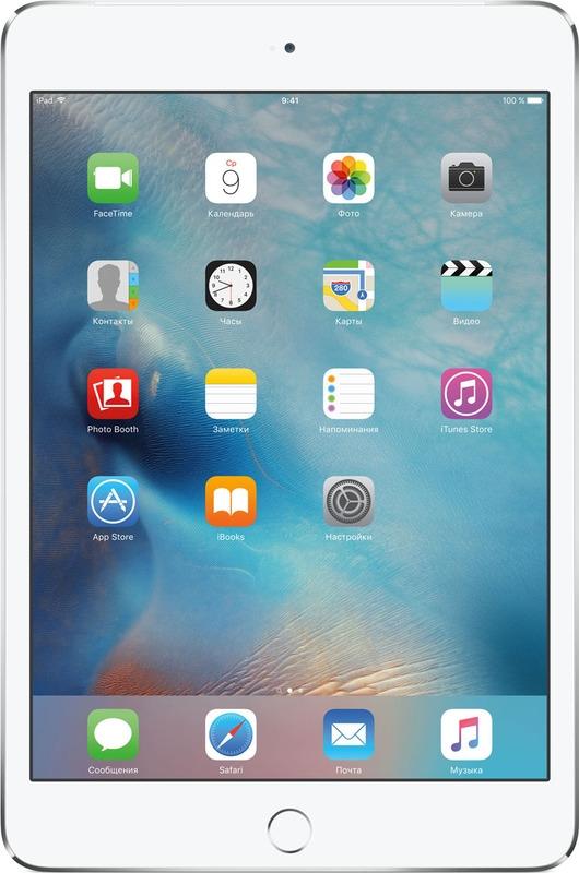 7.9 Планшет Apple iPad mini 4 Wi-Fi + Cellular (2015), серебристый