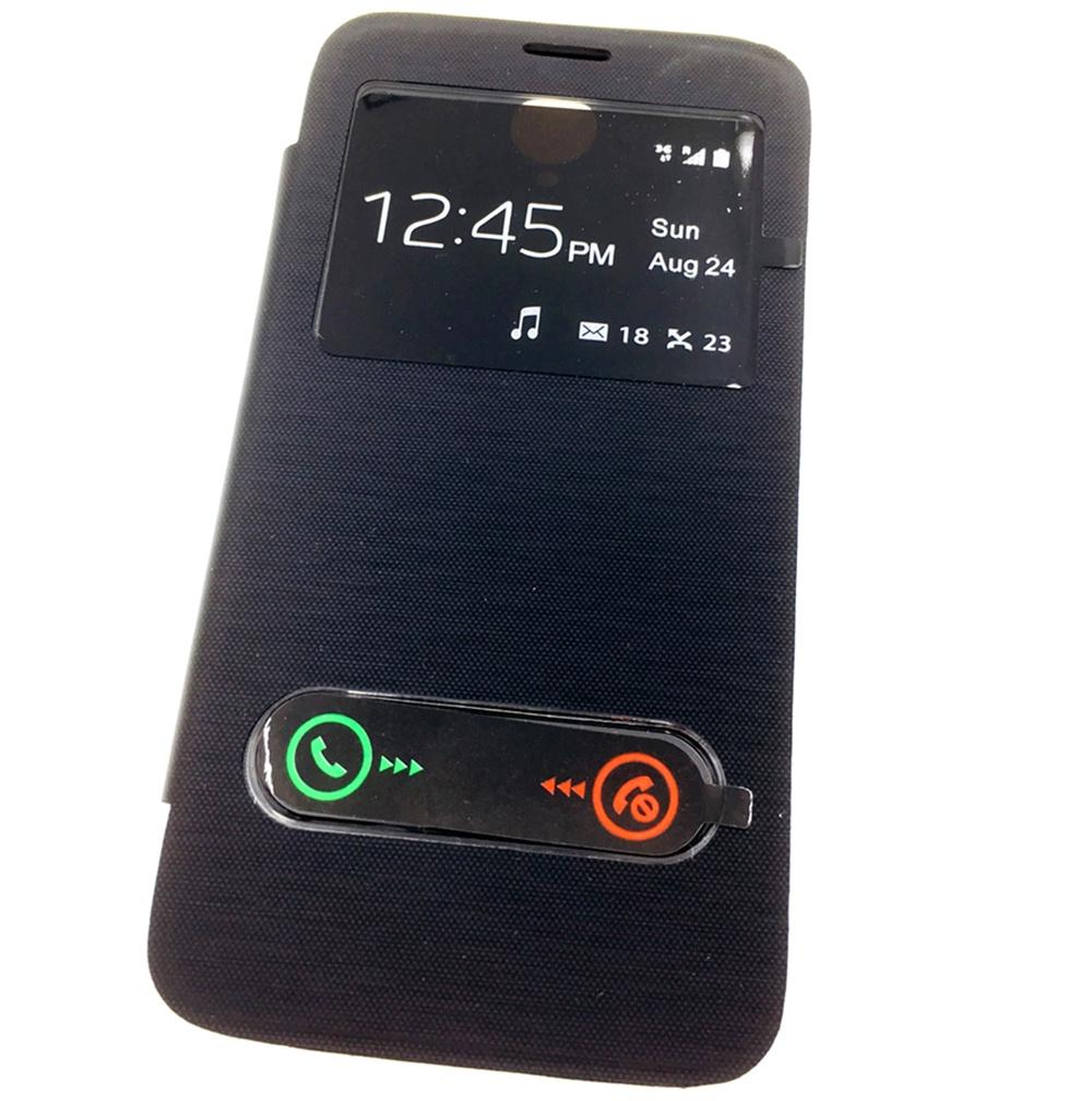 Чехол для сотового телефона Мобильная мода Lenovo A850 Чехол-книжка пластиковая с окнами для звонка, черный