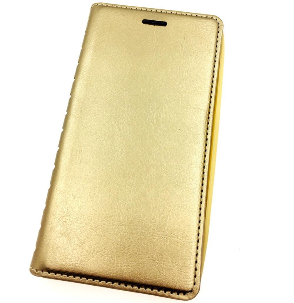 Чехол для сотового телефона Мобильная мода Xiaomi Mi5S Чехол-книжка силиконовая с отделом для карт QUINS, золотой