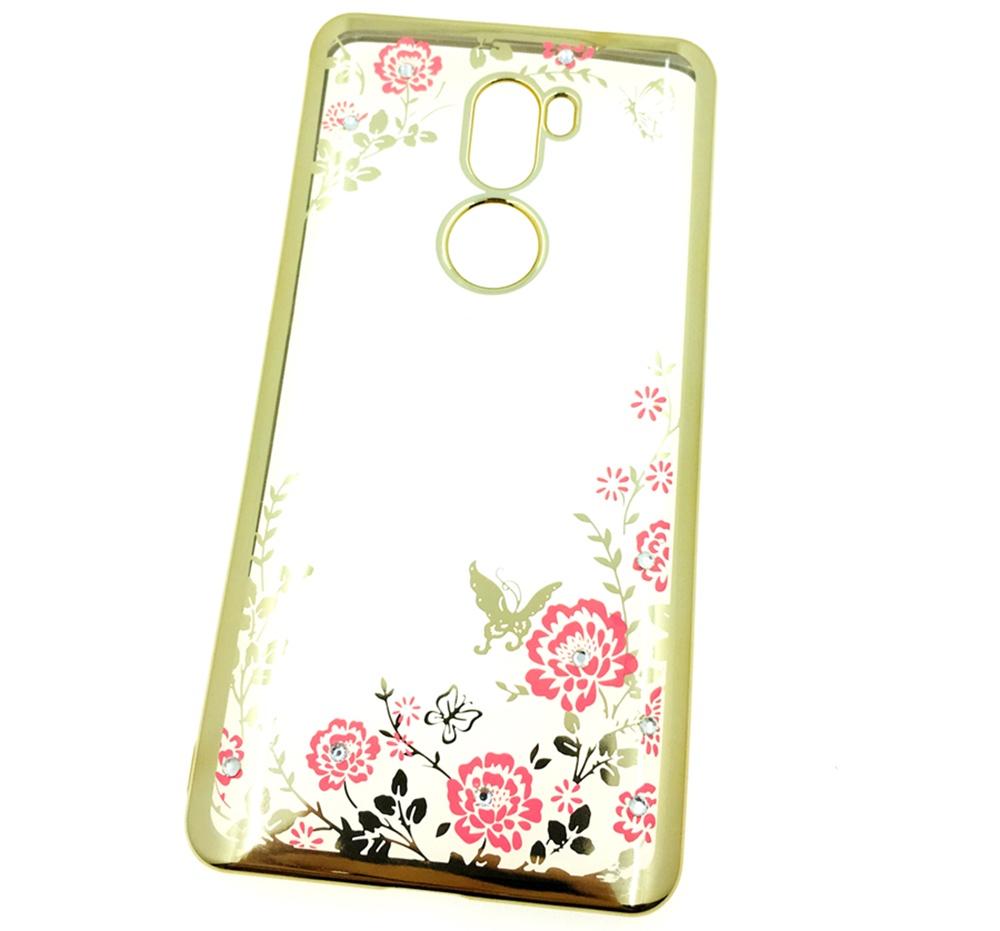 Чехол для сотового телефона Мобильная мода Xiaomi Mi5S Plus Силиконовая прозрачная накладка со стразами, золотой чехол для сотового телефона мобильная мода meizu pro 6 силиконовая прозрачная накладка со стразами 6371g золотой