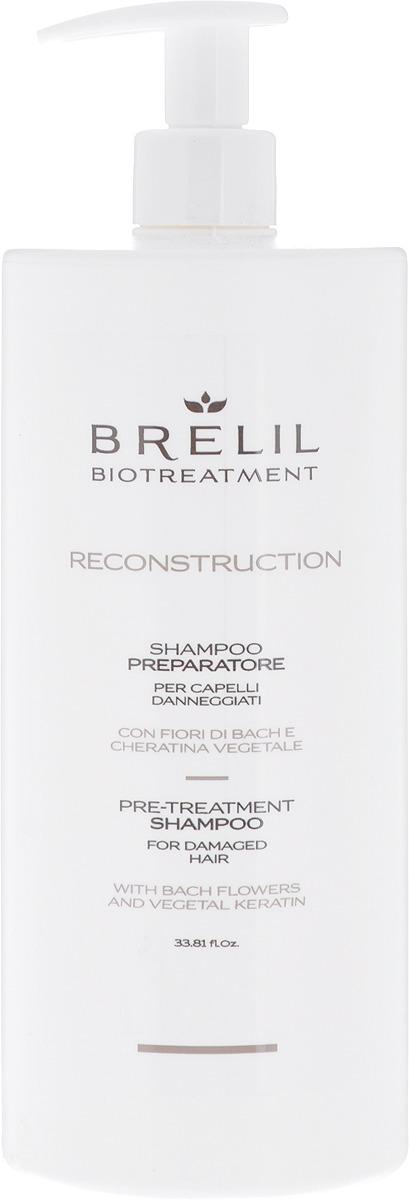 Подготовительный шампунь для волос Brelil BioTreatment Reconstruction, 1 л цены