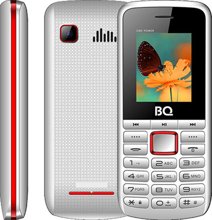Мобильный телефон BQ 1846 One Power, белый, красный мобильный телефон bq 2429 touch черный 2 4 32 мб bluetooth