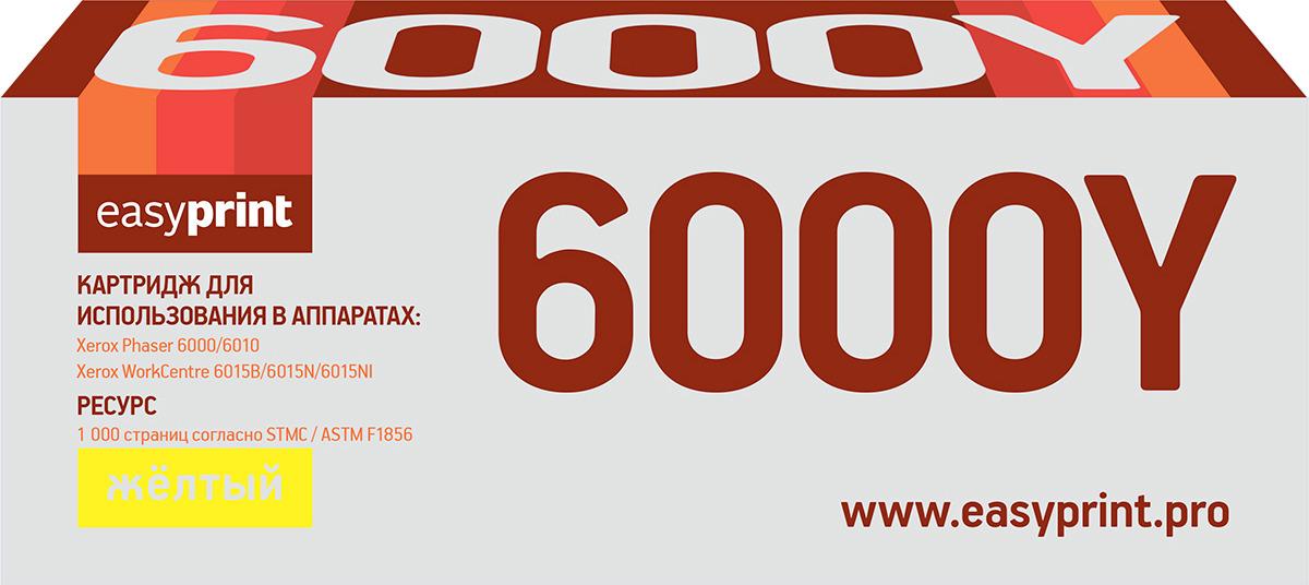 Тонер-картридж EasyPrint LX-6000Y для Xerox Phaser 6000/6010N/WorkCentre 6015, 1000 страниц, с чипом, yellow