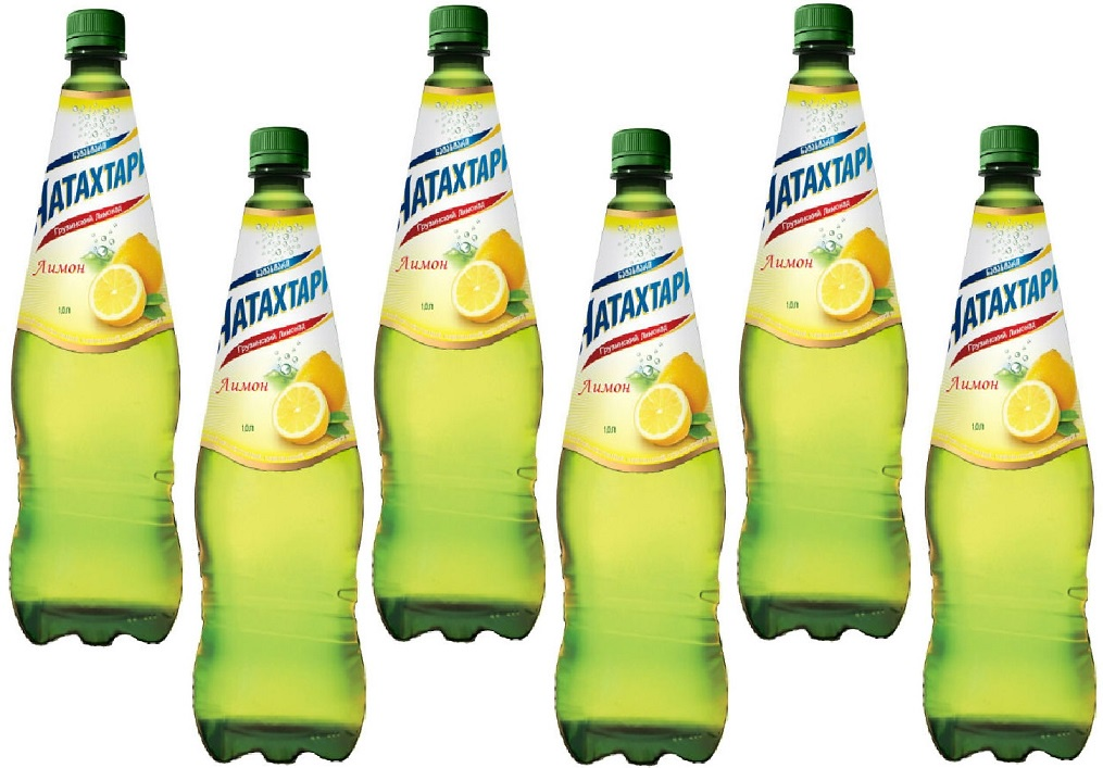 Газированный напиток Натахтари Лимон 1 литр х 6 штук,
