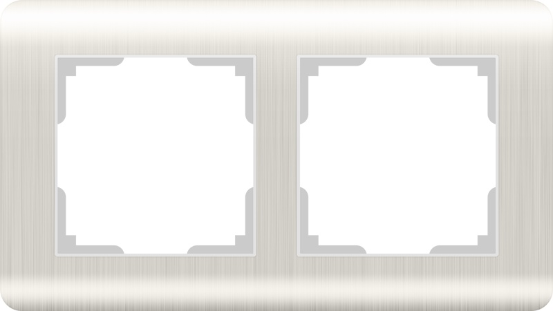 Рамка электроустановочная Werkel на 2 поста перламутровый WL12-Frame-02 светло-бежевый