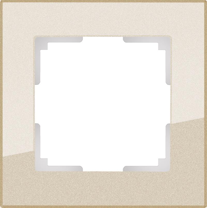 WL01-Frame-01 / Рамка на 1 пост (шампань) цена и фото