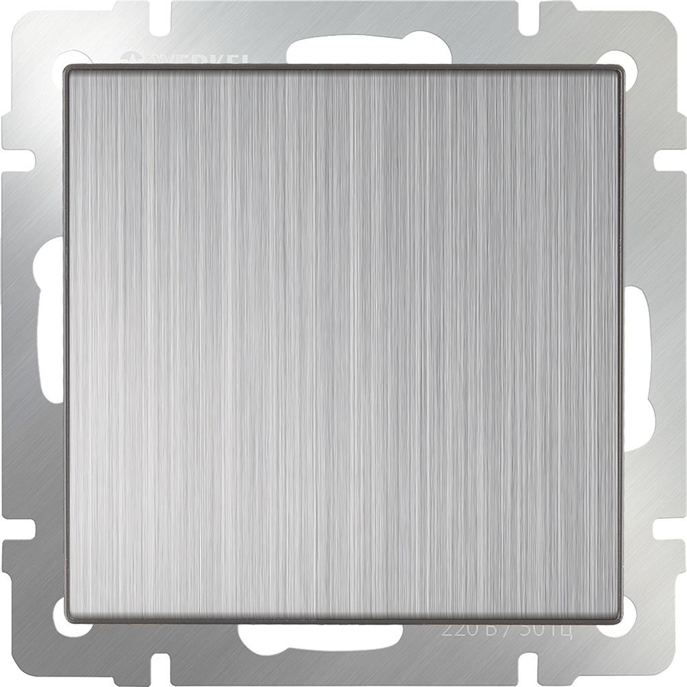 Заглушка для розеток Werkel (Глянцевый никель) WL02-70-11, светло-серый цена и фото