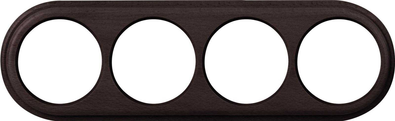 Рамка электроустановочная Werkel на 4 поста венге WL20-frame-04 темно-коричневый